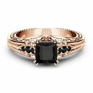 Beautiful Rose Gold Filled Black Sapphire Ring